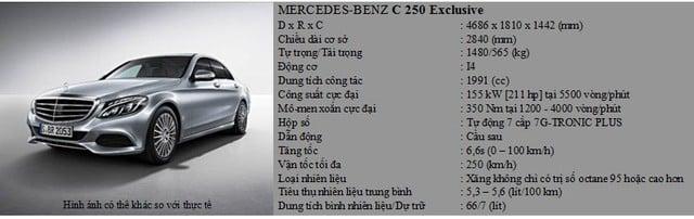 Mercedes-Benz C-Class 2015 sắp được giới thiệu tại Việt Nam 6