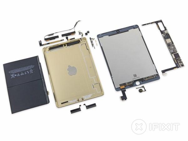 Phẫu thuật iPad Air 2: Cực kỳ khó sửa, pin nhỏ hơn 5