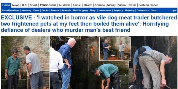 Báo Anh phê phán nặng nề cảnh giết thịt chó tại Việt Nam 6