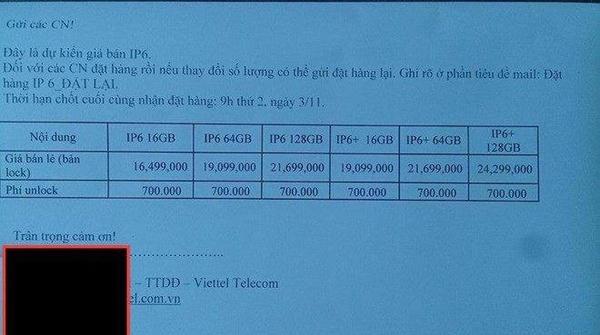 Viettel đang âm thầm cho khách đặt mua iPhone 6 với giá 16,499 triệu đồng 5