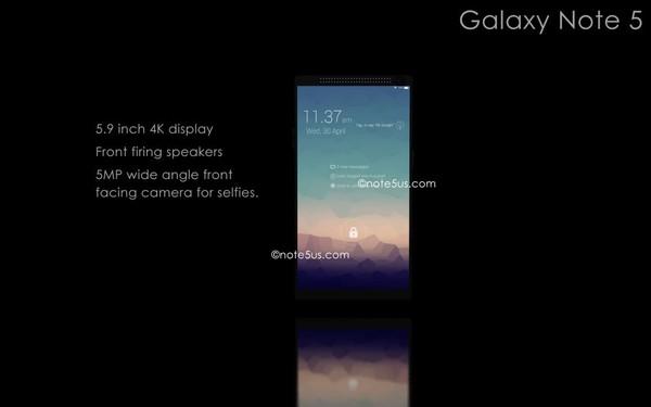 Galaxy Note 5 sẽ sử dụng màn hình AMOLED độ phân giải 4K 6