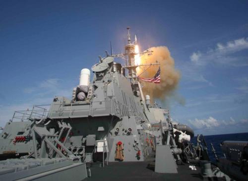 Mỹ lần đầu đánh chặn thành công 3 tên lửa cùng lúc 6
