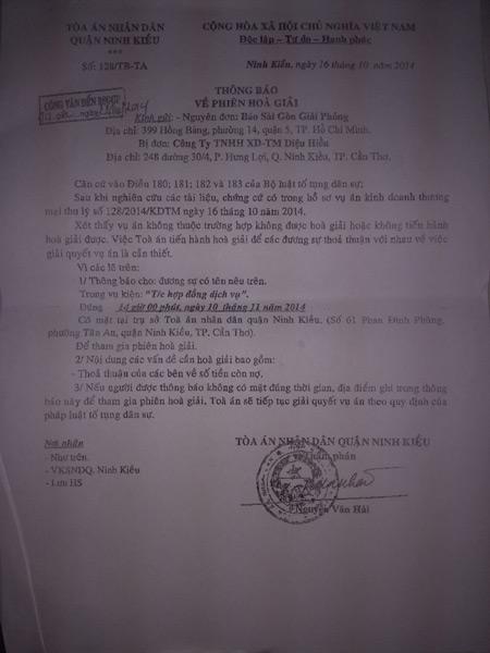 Nữ đại gia bị báo Sài gòn Giải phóng kiện đòi tiền 7