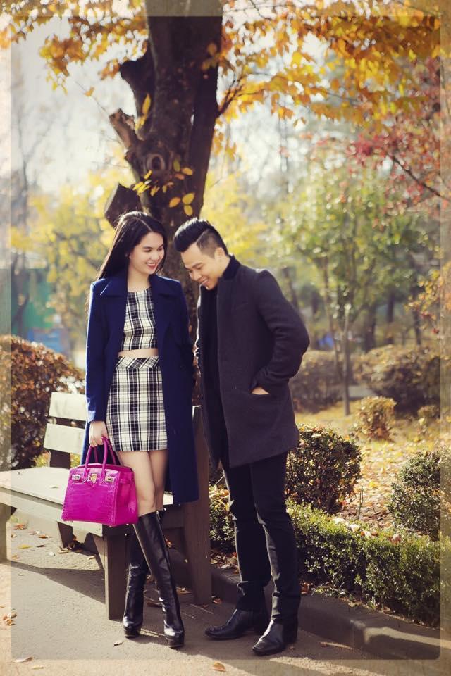 Khoảnh khắc ngọt ngào của Ngọc Trinh, Vũ Khắc Tiệp tại Hàn Quốc 5
