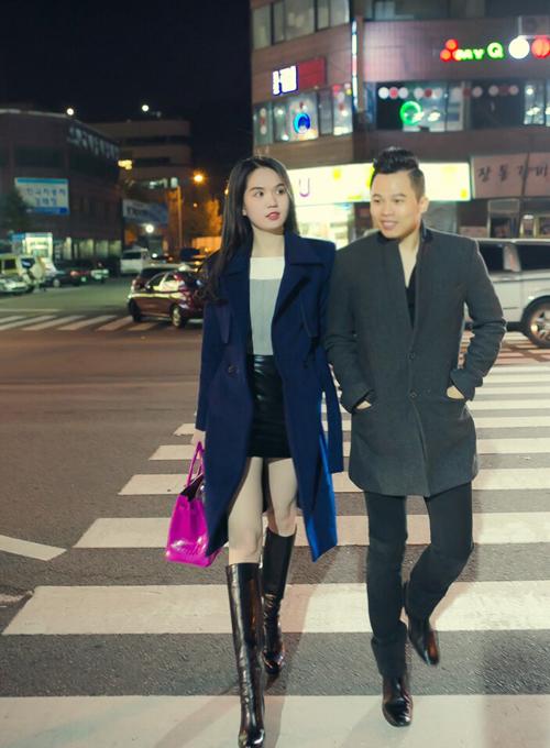 Khoảnh khắc ngọt ngào của Ngọc Trinh, Vũ Khắc Tiệp tại Hàn Quốc 8