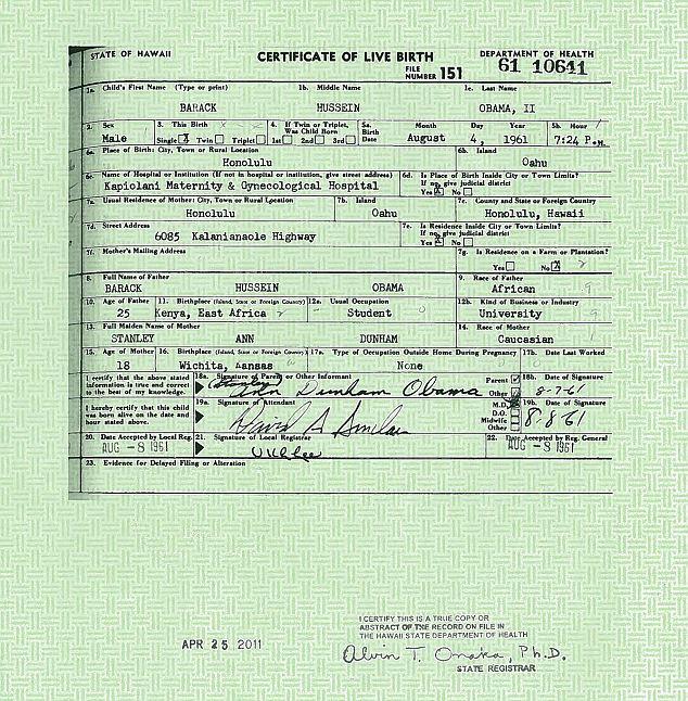 Nhìn lại nghi án Tổng thống Obama dùng giấy khai sinh giả 7