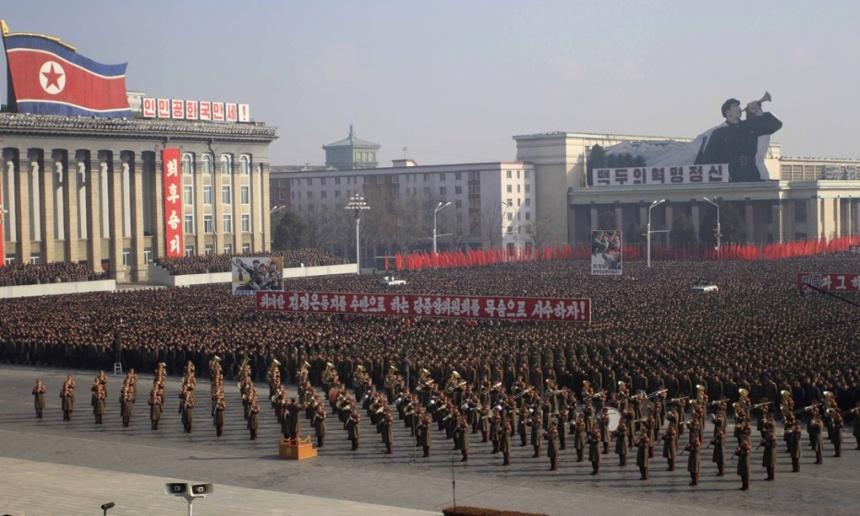 Hàng nghìn người Triều Tiên biểu tình phản đối Liên Hợp quốc 5