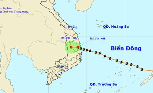 Bão số 4 suy yếu thành áp thấp nhiệt đới 4
