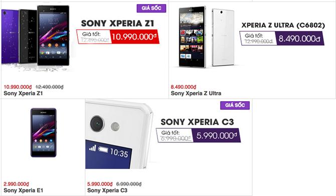 Bộ ba Xperia Z chính hãng giảm giá cả triệu đồng 5