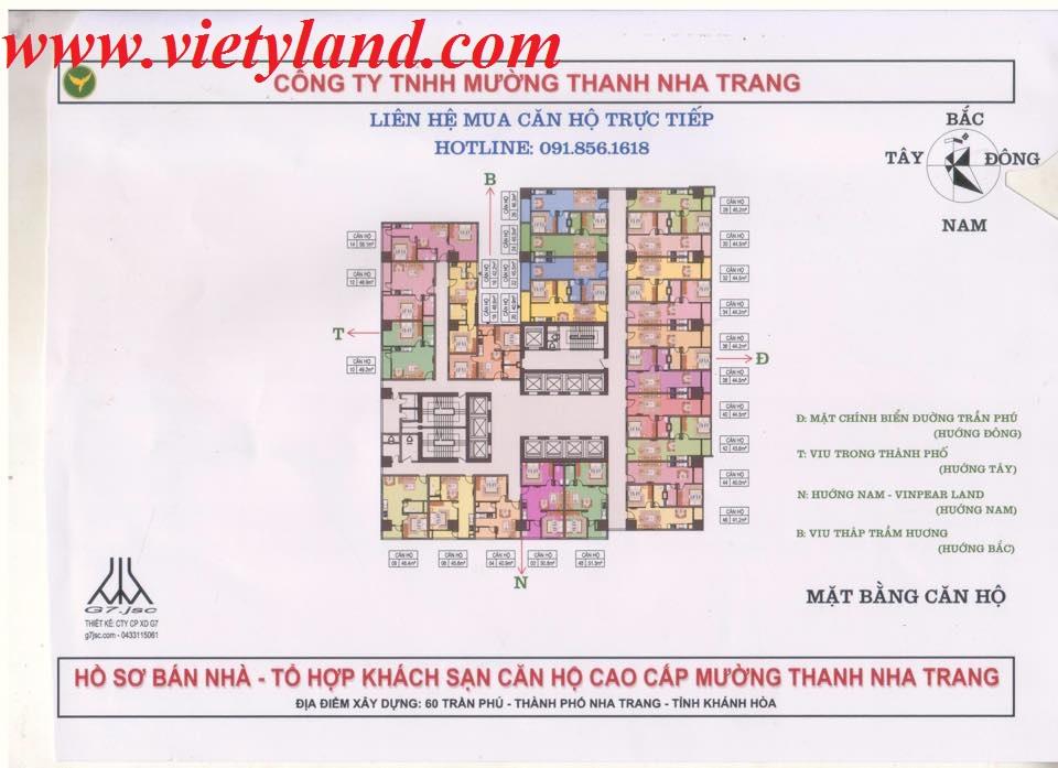 Chung cư khách sạn Mường Thanh Nha Trang Khánh Hòa cao cấp 2