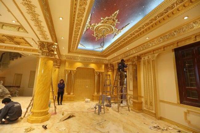 Đại gia Việt đổ đống vàng dát nhà làm sang 9
