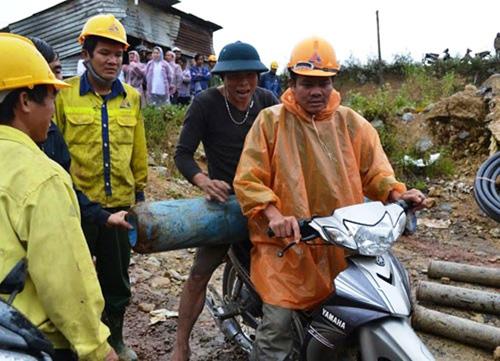 Hiện trường vụ sập hầm thủy điện 11 người mắc kẹt 5