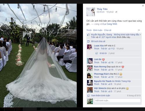 Thủy Tiên xinh đẹp trong đám cưới ngoài trời với Công Vinh 5