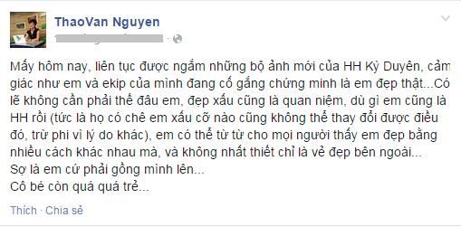 """Lên tiếng """"dạy dỗ"""" Hoa hậu Kỳ Duyên, MC Thảo Vân bị chỉ trích 6"""
