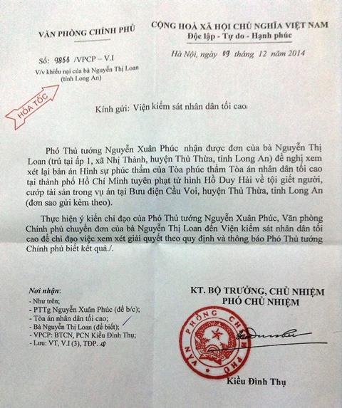 Vụ tử tù Hồ Duy Hải: Ủy ban Thường vụ Quốc hội giám sát vụ việc 9