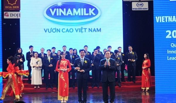 Vinamilk tiếp tục được vinh danh Thương hiệu quốc gia năm 2014 5