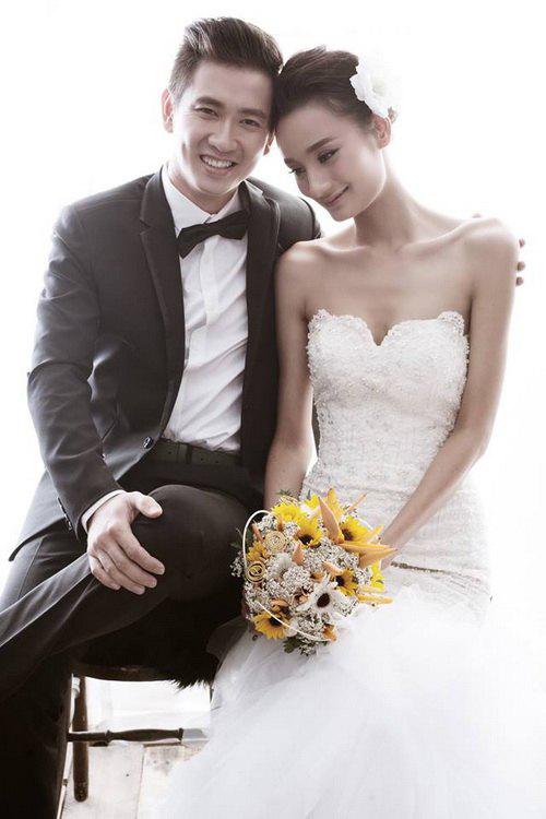 Hé lộ ảnh cưới đẹp long lanh của Lê Thúy - Đỗ An 9