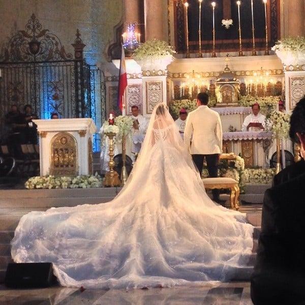 Hình ảnh Hôn lễ hoàng gia như trong mơ của mỹ nhân đẹp nhất Phillippines số 5
