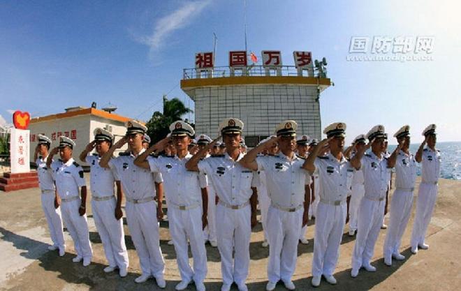 Trung Quốc lần đầu công bố ảnh hoạt động quân sự trên bãi Chữ Thập 5