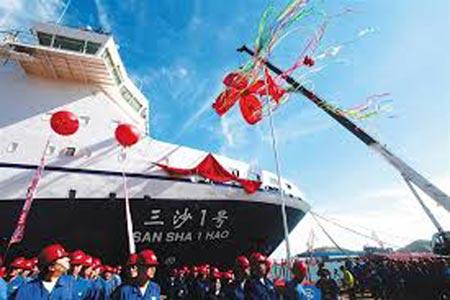 Tàu tiếp tế mới của Trung Quốc có thể mang xe tăng ra Trường Sa 5