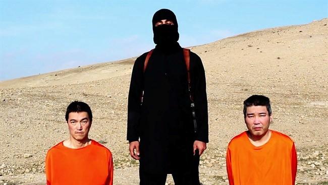 Hình ảnh IS đăng tải video xử tử một con tin người Nhật Bản số 2