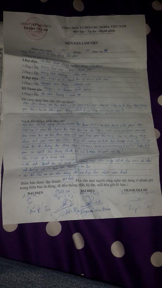 Sở GTVT tỉnh Vĩnh Phúc phải xin lỗi tài xế vì