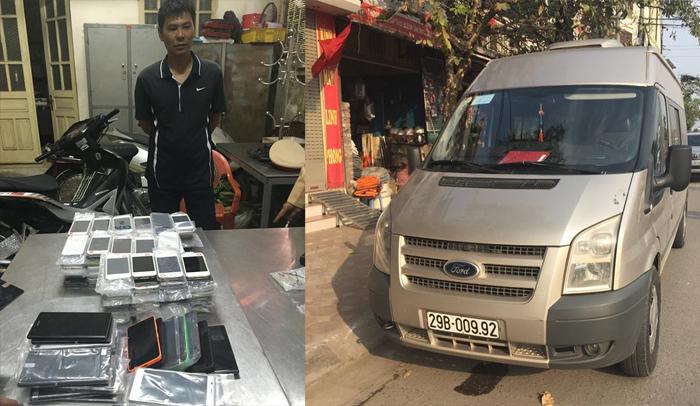 Xe khách chở 200 điện thoại đắt tiền bị 141 bắt giữ 5
