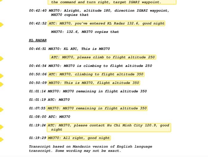 54 phút cuối cùng từ buồng lái MH370 xuất hiện 2 điểm kỳ lạ 5