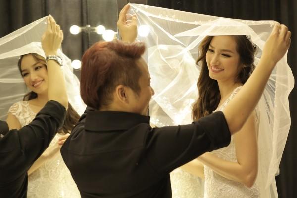 Hoa hậu Trúc Diễm đẹp không tì vết trong bộ váy cô dâu 5