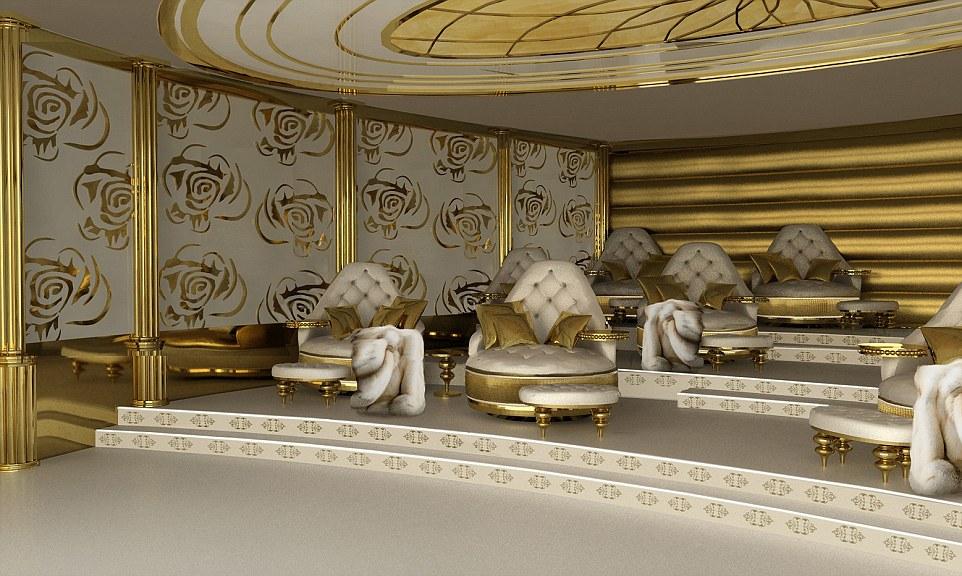 Chiêm ngưỡng siêu du thuyền dát vàng dành cho các nữ đại gia 9