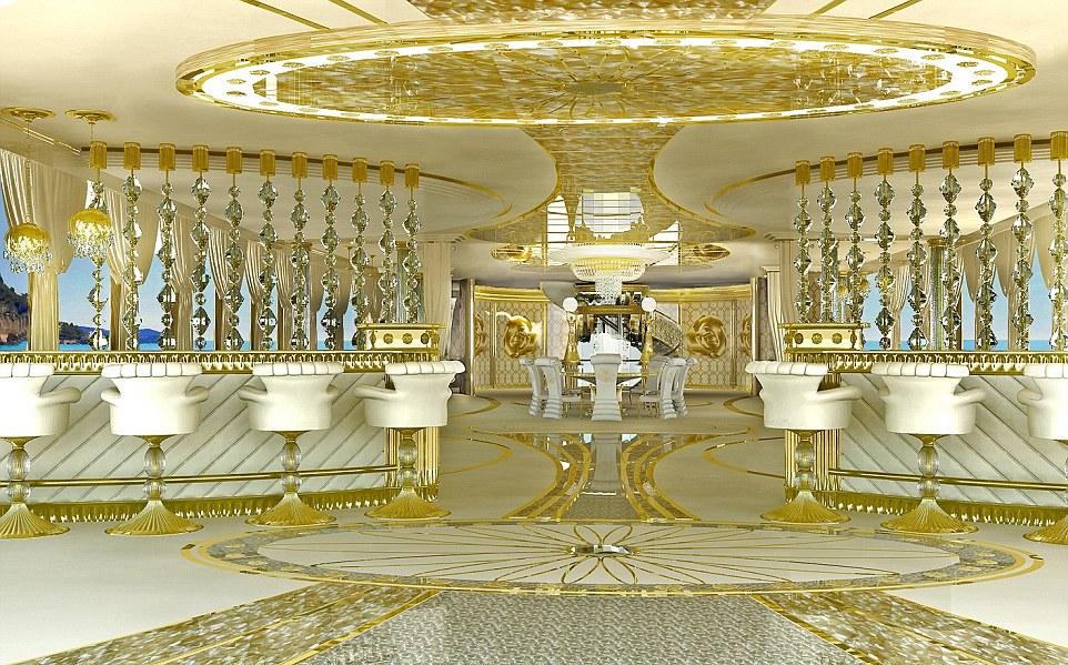 Chiêm ngưỡng siêu du thuyền dát vàng dành cho các nữ đại gia 11