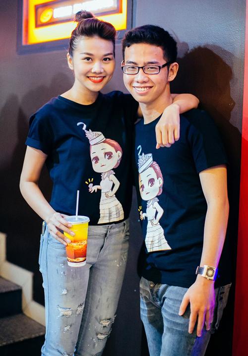 Siêu mẫu Thanh Hằng đưa em trai bảnh bao đi sự kiện 5