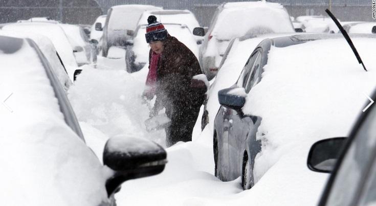 """Chùm ảnh đông bắc Mỹ bị """"chôn vùi"""" trong bão tuyết 11"""