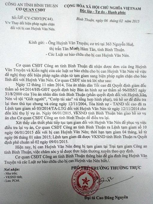 Vụ Huỳnh Văn Nén: Nghi can bị từ chối cho tại ngoại 6