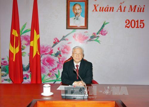 Tổng Bí thư Nguyễn Phú Trọng điện đàm với Chủ tịch Trung Quốc Tập Cận Bình 4