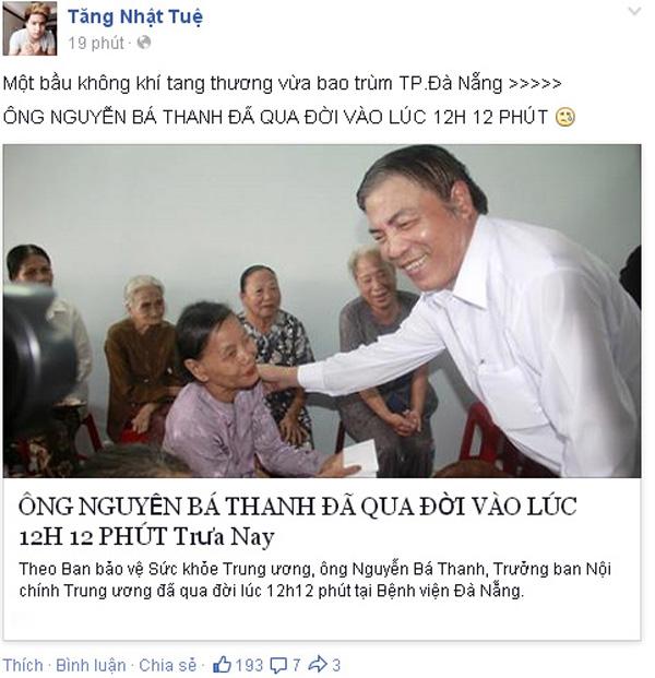 Sao Việt đau xót trước sự ra đi của ông Nguyễn Bá Thanh 6