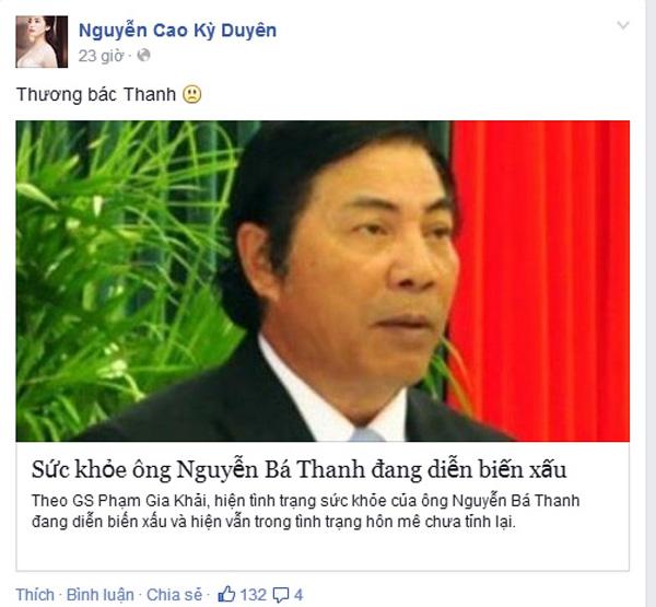 Sao Việt đau xót trước sự ra đi của ông Nguyễn Bá Thanh 7