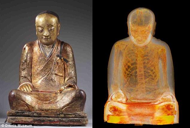 Phát hiện xác ướp nhà sư trong tượng phật 1000 năm tuổi 5