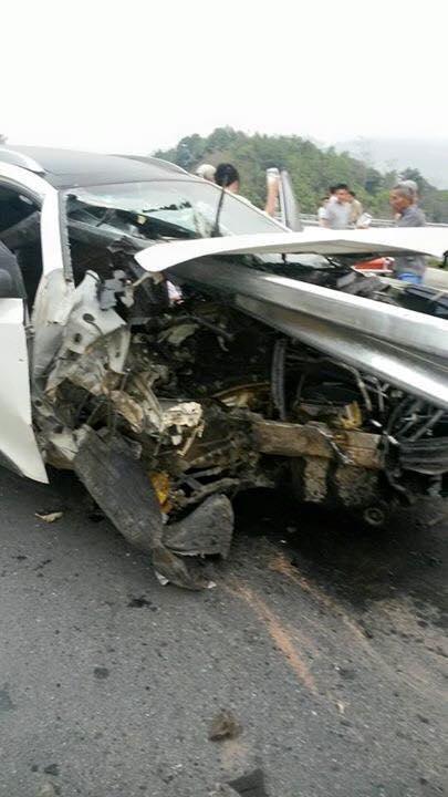 Hyundai Tuscon gặp nạn trên cao tốc Hà Nội - Lào Cai 6