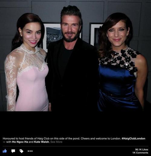 Ảnh Hồ Ngọc Hà chụp cùng David Beckham gây sốt cộng đồng mạng 5
