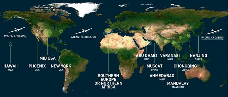 Chuyến bay vòng quanh thế giới đầu tiên bằng năng lượng Mặt Trời 6