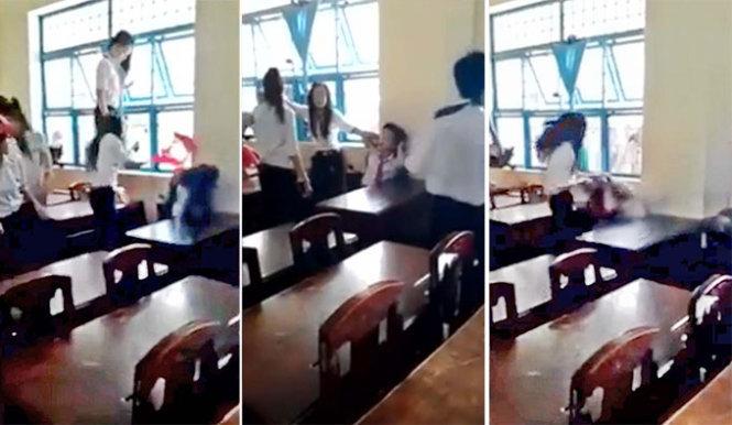 Nữ sinh bị đánh hội đồng ở Trà Vinh tiết lộ về lý do bị đánh 6