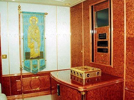 Nội thất dát vàng trong chuyên cơ của Tổng thống Nga Putin 8