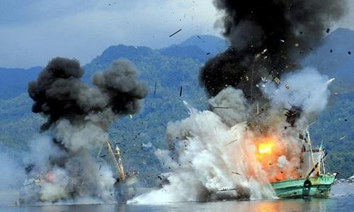 Indonesia đánh chìm 3 tàu cá Philippines 4