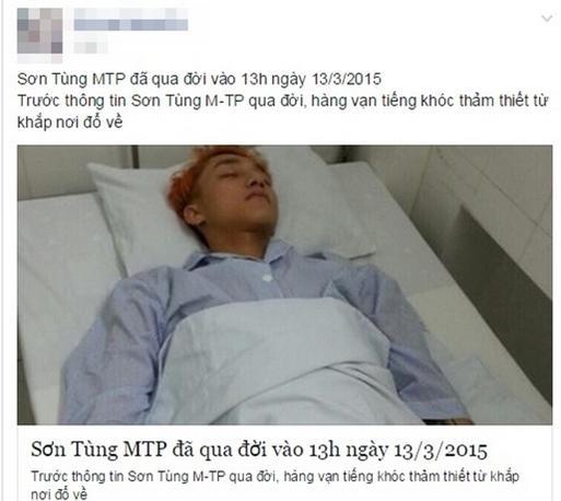 Sơn Tùng M-TP bị tung tin đột ngột… qua đời 1