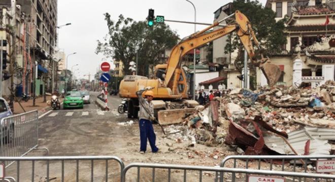 Hà Nội: Cưỡng chế nhà 8B Lê Trực để thi công đường Trần Phú-Kim Mã 5
