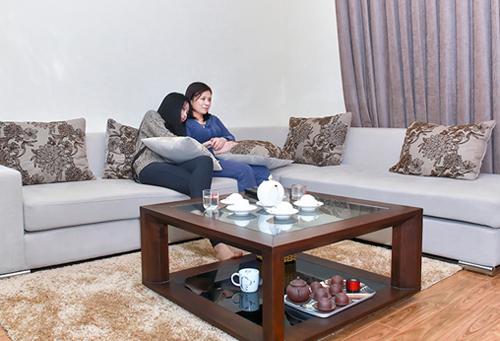 Đột nhập căn hộ giản dị của Lan Phương và Hoa hậu dân tộc Ngọc Anh 9
