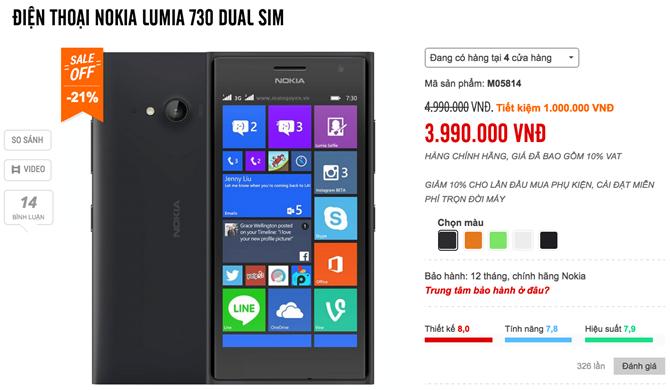 Nhiều smartphone Lumia đồng loạt giảm giá cả triệu đồng 5