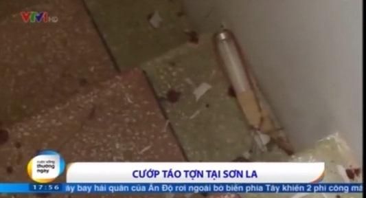 Clip: Hiện trường đầy máu rơi vãi vụ cướp kinh hoàng tại Sơn La 5