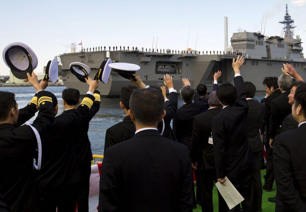 Tàu sân bay lớn nhất của Hải quân Nhật đi vào hoạt động 12
